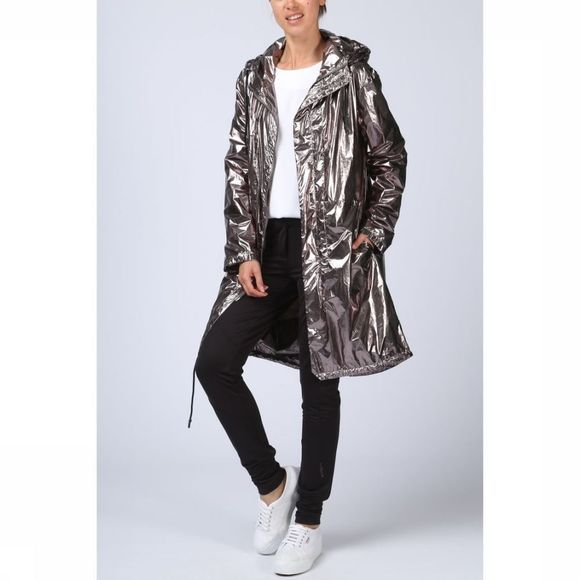 Yaya Jas Metallic Coat Zilver