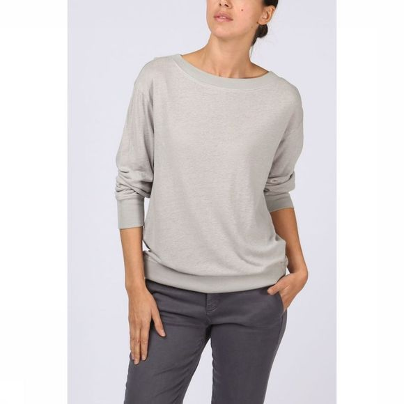 T-Shirt Linen Ls With Rib
