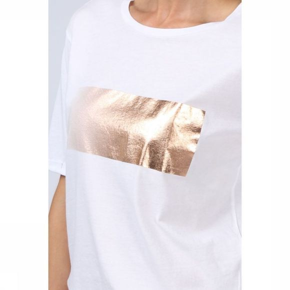 T-Shirt Ss With Foil Print