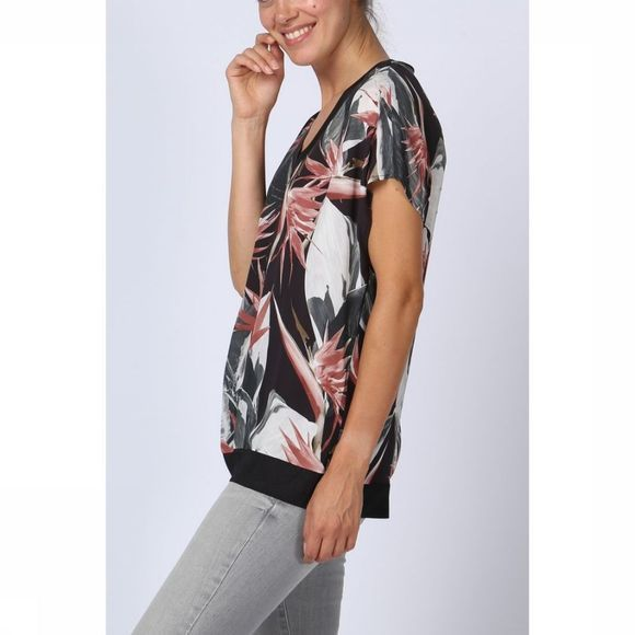 Blouse Woven Jungle Flower Print