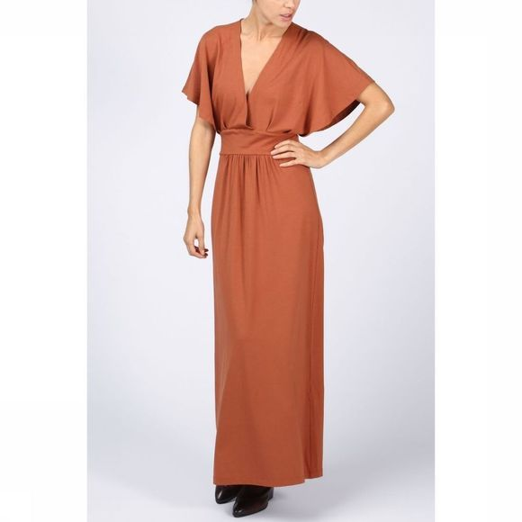 Jurk Jersey Maxi With V Neck
