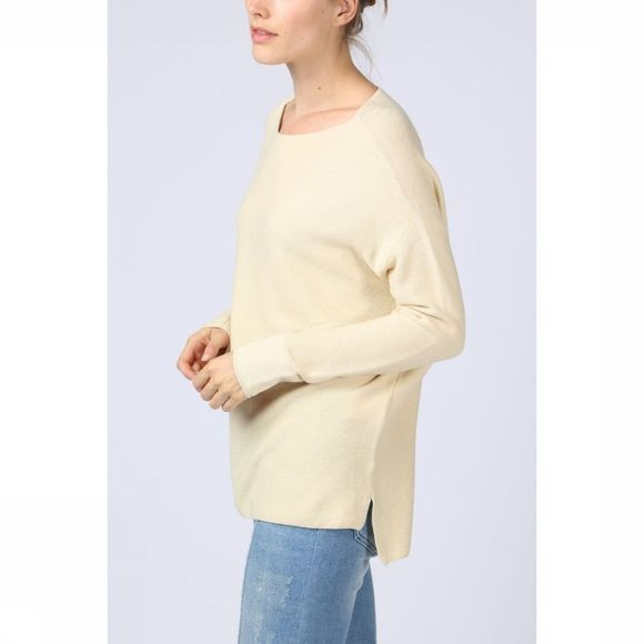 Yaya Trui Oversized Cotton Knit Gebroken Wit