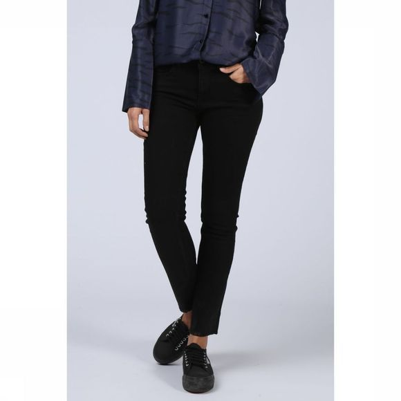 Yaya Jeans Fancyed Straight Denim Black Zwart