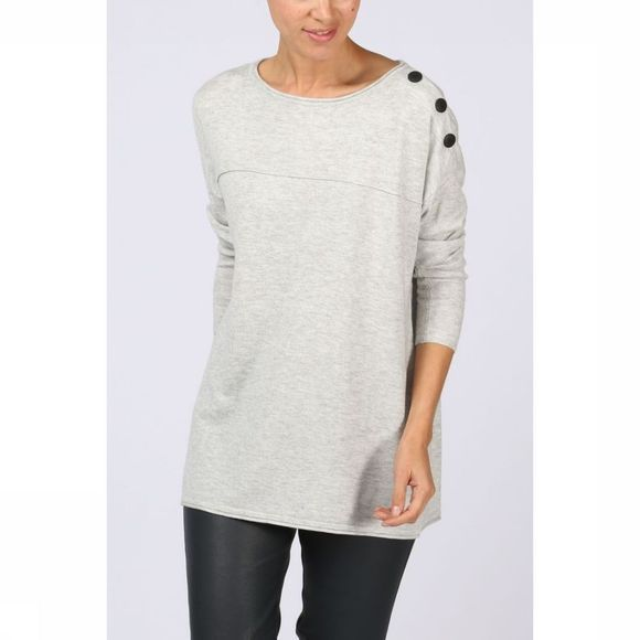 Trui Off Shoulder W.Contrast Buttons