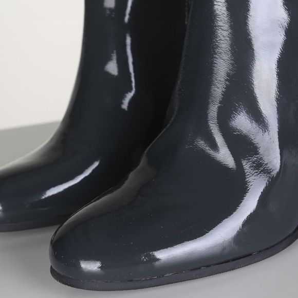 Yaya Bottine Patent Leather Donkerblauw