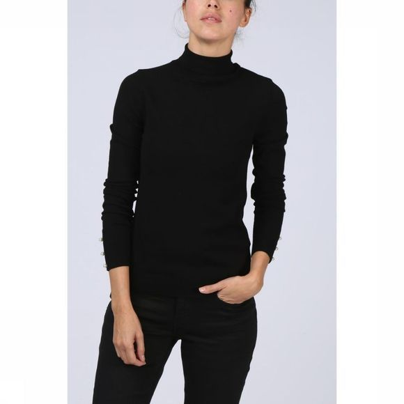 Trui Turtleneck Cuffs W. Pearl Buttons