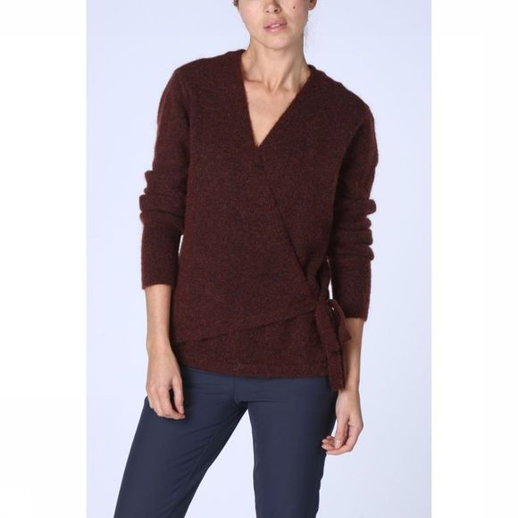 Yaya Cardigan Wrap Bordeaux