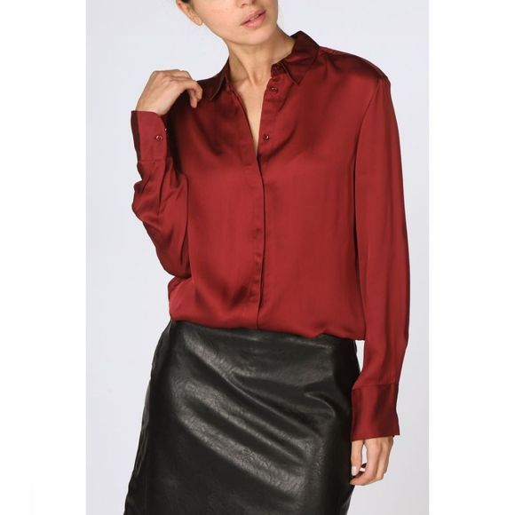 Yaya Blouse Blouse Silky Touch Middenrood