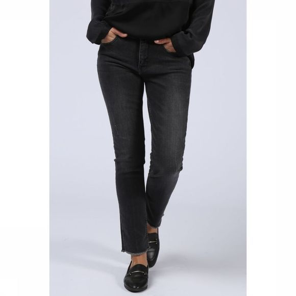 Yaya Jeans Basic Straight Denim Zwart