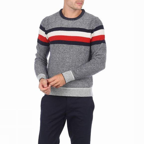 Tommy Hilfiger Pullover Oakes dark blue/mid red