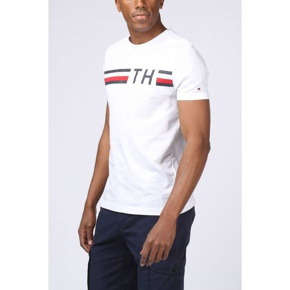 T-Shirt Striped Logo