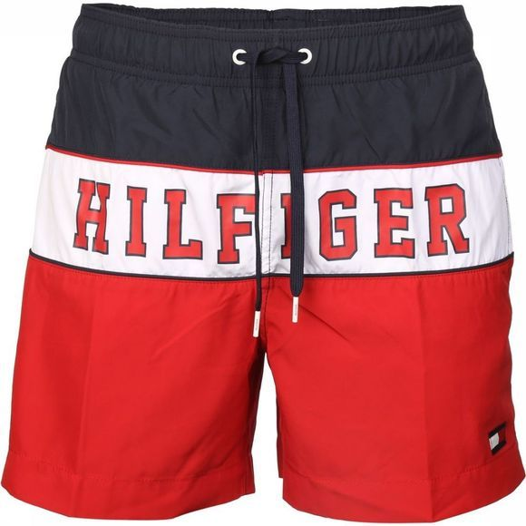 Tommy Hilfiger Short De Bain Th Medium Drawstring Rouge/marine