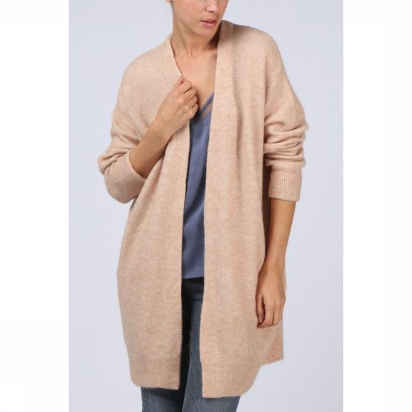 Yaya Cardigan Long Sleeve Kameelbruin