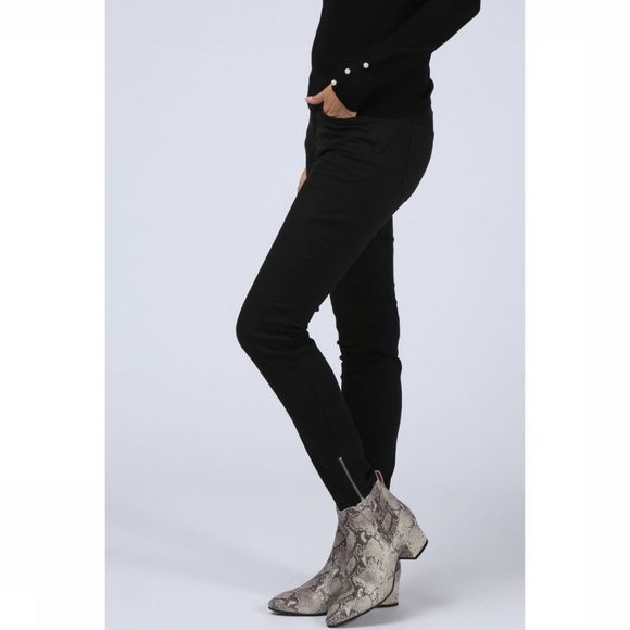 Yaya Jeans Fancy Skinny W Zippers Zwart