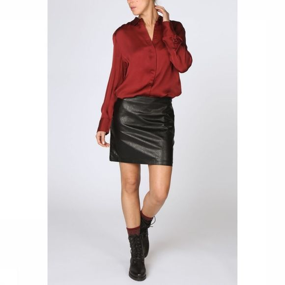 Yaya Rok Leather-Look Short Zwart