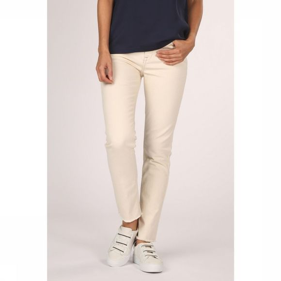 Yaya Jeans Off White Straight Denim Ecru