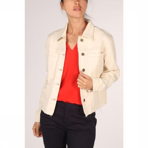 Yaya Blazer Coloured Denim Ecru