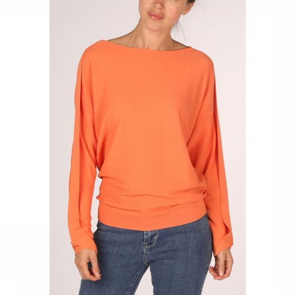 Yaya Pullover Rib W Batwing Sleeve orange