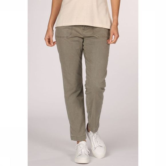 Yaya Broek Relaxed Pantalon With Worker Pockets Middenkaki