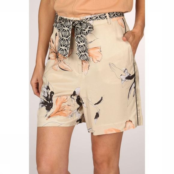 Yaya Short Hight Waist Printed Ecru/Assortiment Bloem