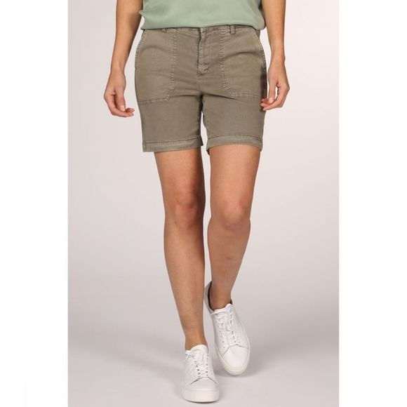 Yaya Short Relaxed Short Worker Pockets Middenkaki