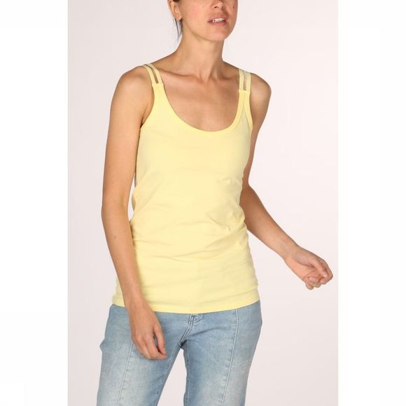 Yaya T-Shirt Stretch Singlet With Splitted  Elastic Straps Middengeel