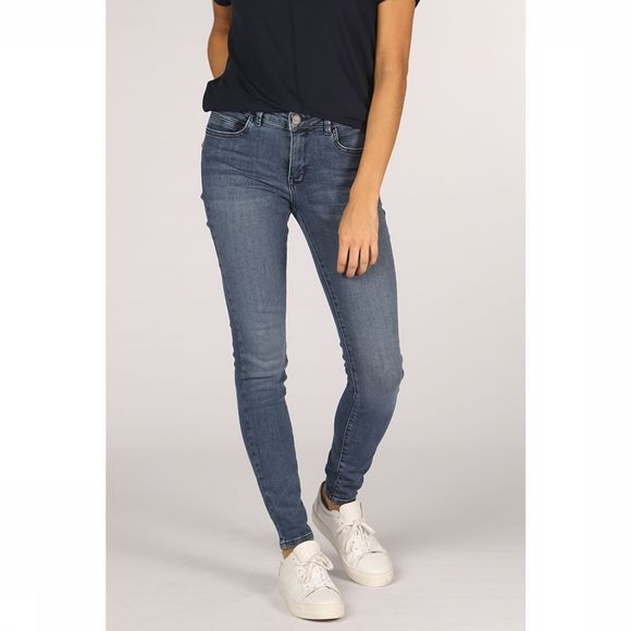 Yaya Jeans Basic Skinny 5-Pocket With Stretch Middenblauw