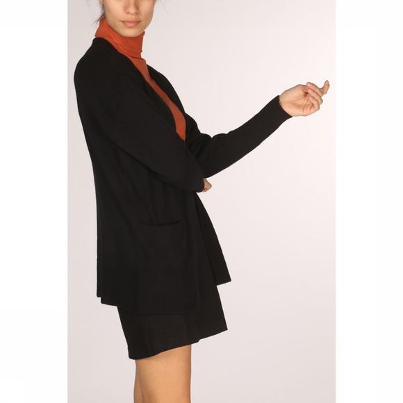 Yaya Cardigan Short Long Sleeve Zwart