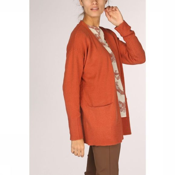 Yaya Cardigan Long Sleeve Rouille