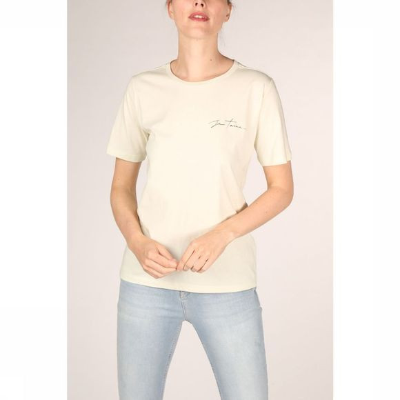 Yaya T-Shirt Cotton Quote Lichtgroen