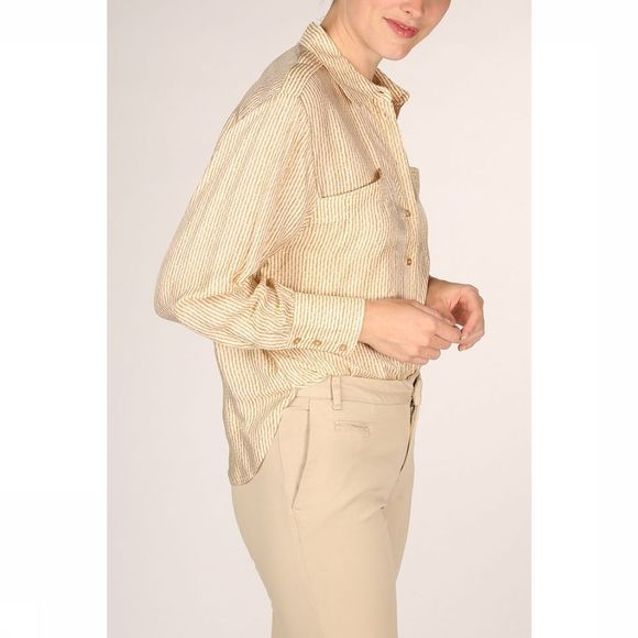 Yaya Hemd Silk Mix Large Pockets And Epaulets Wit/Middengeel