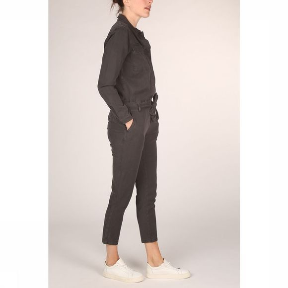 Yaya Jumpsuit ed Cargo Pockets And Epaulets Zwart