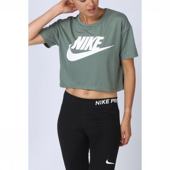 Nike T-Shirt Essential Crop Kaki Clair