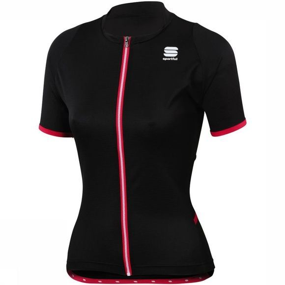 Sportful T-Shirt Luna Zwart/Middenrood