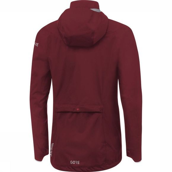 Gore Wear Coat C5 Gore-Tex Active Trail Hooded Mid Red/Bordeaux