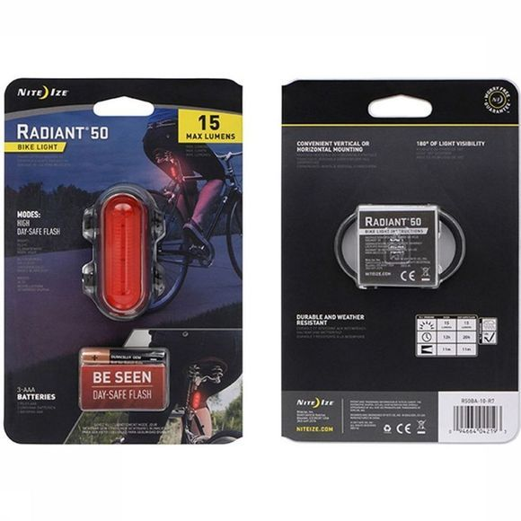 Nite Ize Bike Lighting Radiant 50 Bike Light red