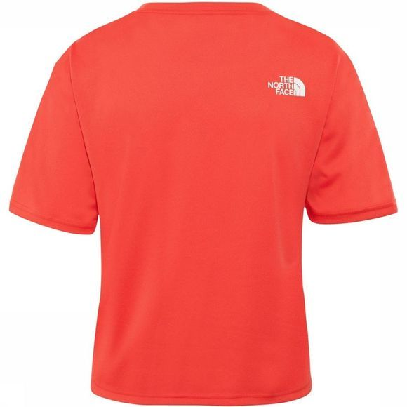 The North Face T-Shirt Women'S Train N Logo Crop S/S red