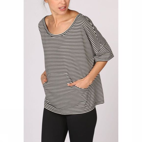 PlayPauze T-Shirt Mar Stripes Zwart/Wit