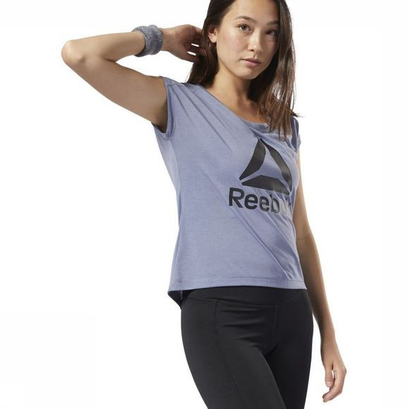 Reebok T-Shirt Workout Ready Supremium 2.0 Lichtblauw
