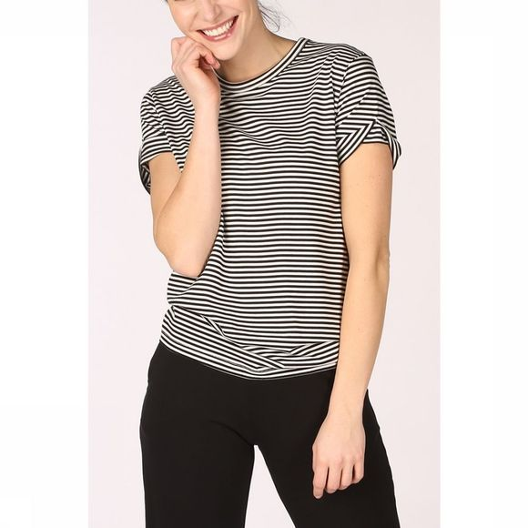 PlayPauze T-Shirt Dolphin Stripes Noir/Blanc