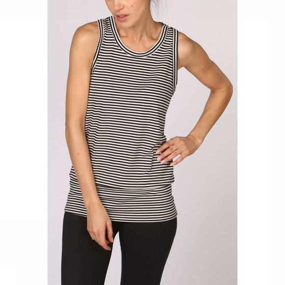PlayPauze Top Freud Stripes Zwart/Wit