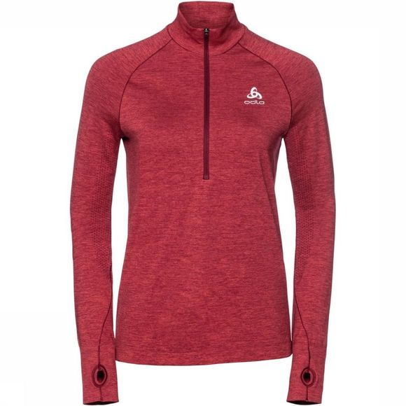 Odlo Pullover Midlayer 1/2 Zip Irbis Warm red/mid red