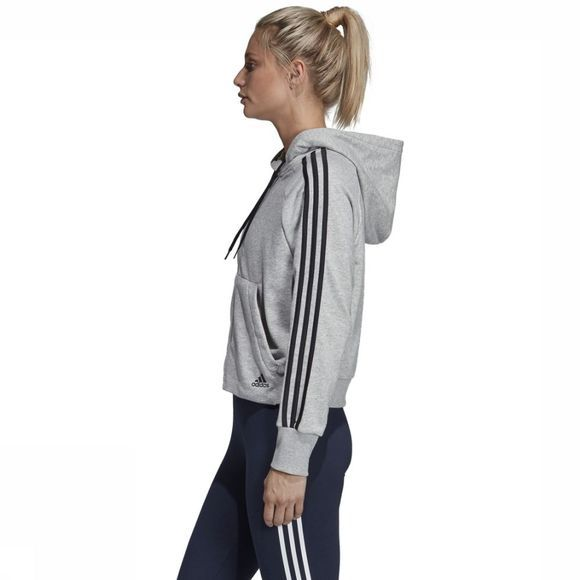 Adidas Trui Must Haves 3-Stripes French Terry Lichtgrijs Mengeling