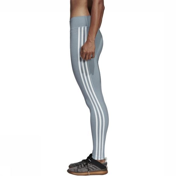 Adidas Legging Believe This 3-Stripes Middengrijs/Wit