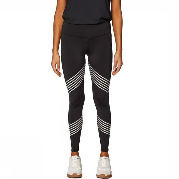 Esprit Legging Tight Edry Solid Reflective Stripes Zwart