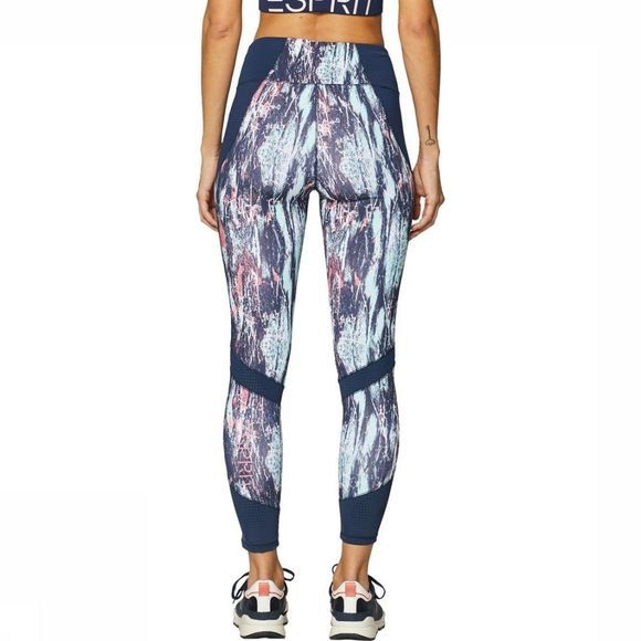 Esprit Legging Tight Edry All Over Print Turkoois