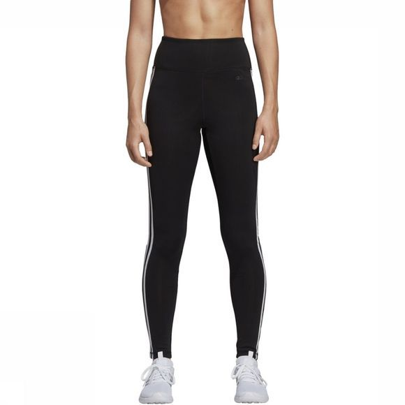 Adidas Legging Design 2 Move 3-Stripes High-Rise Long Zwart