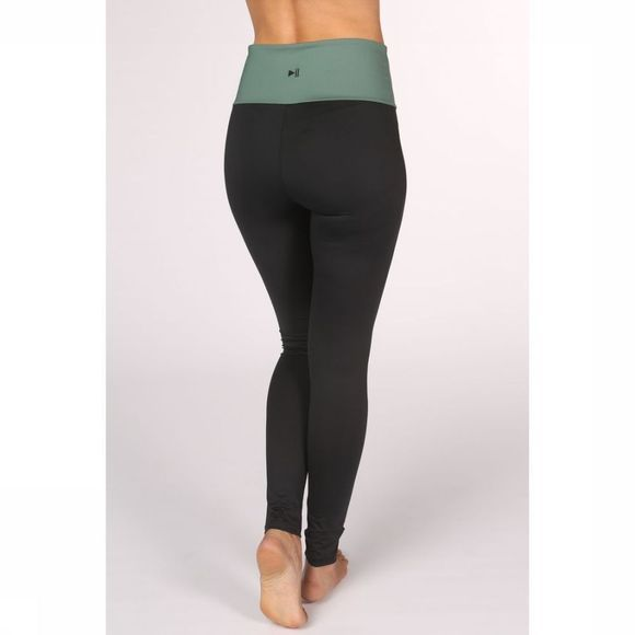 PlayPauze Legging Mountain Zwart/Middengroen