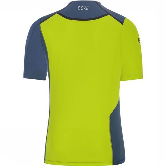 Gore Wear T-Shirt R7 Donkerblauw/Lime