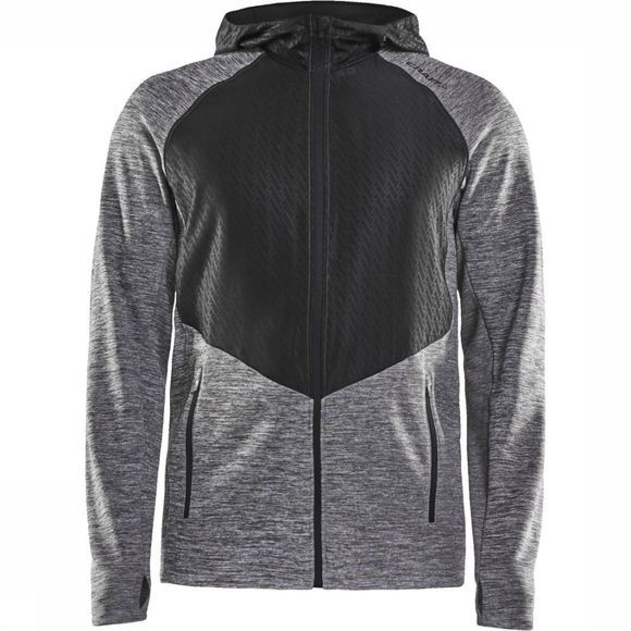 Craft Pull Charge Fz Sweat Gris Moyen/Noir